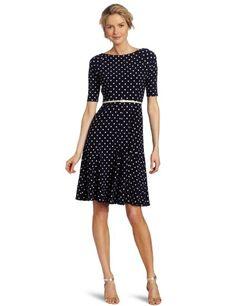 Amazon.com: Jones New York Women's MJ Bateau Neck Godet Dress: Clothing