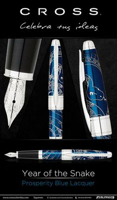 Bolígrafo Year of the snake Prosperity Blue Lacquer