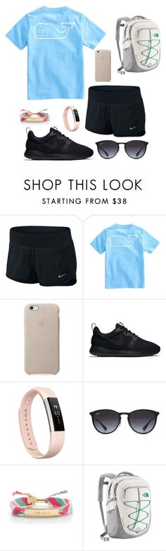 """Untitled #214"" by becker17 ❤ liked on Polyvore featuring NIKE, Vineyard Vines, Fitbit, Ray-Ban, Kate Spade and The North Face"