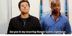 See you in my reoccurring hunger games nightmare Psych Memes, Psych Quotes, Psych Tv, Shawn And Gus, Shawn Spencer, Carlton Lassiter, Real Detective, I Know You Know, Movie Lines