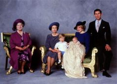 Prince Harry's official Christening photograph, showing 4 generations of the British Royal Family