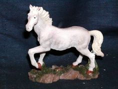 FIGURINE WESTERN WHITE  HORSE FIGURINES STANDING NEW our store link http://stores.ebay.com/store4angels?refid=store come see our store front always have great sales
