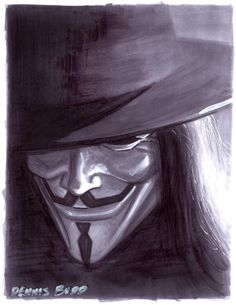 convention sketch 15 V for Vendetta by DennisBudd on DeviantArt