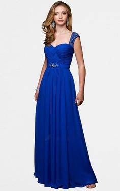 Buy Australia Sheath Floor-length Shoulder Straps Royal Blue Dress , Ladies dresses and flower girls dresses, Discount Dresses for sale