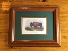 From the acclaimed The Viviparous Quadrupeds of North America collection, this John James Audubon print features the American Bison or Buffalo in a