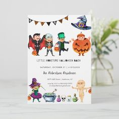 Kids Halloween Party Invitation , #affiliate, #Party#Invitation#created#Shop
