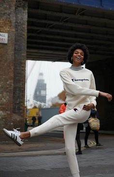 Add a sporty edge to your casual style with the Reverse Weave Jogger Pants by Champion. These classic joggers feature a wide elastic waistband, side pockets, single back pocket, and a high-rise fit. Childrens Artwork, Joggers Womens, White Women, Pacsun, Jogger Pants, White Jeans, Champion, Tommy Hilfiger, Pants For Women