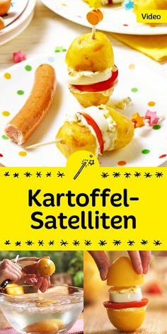 Eine tolle Idee für den nächsten Kindergeburtstag oder die nächste Grillparty: Kartoffel-Satelliten. Sieht toll aus und schmeckt mega lecker!