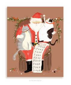 All I Want for Christmas is... Food- Christmas Cat Card