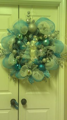 Blue silver white Christmas db1055b42