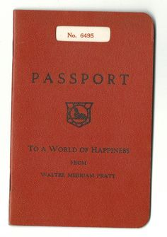 1935 Chirstmas Greeting From Walter Pratt Author Resembles Passport Mickey Mouse