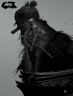 Tengu of Ashina Anime Manga, Anime Art, Soul Saga, Bloodborne Art, Dark Souls Art, Samurai Artwork, Ninja Art, Knight Art, Dungeons And Dragons Homebrew