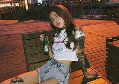 김 하나 ∼ Hana ↳ Hana is a soloist under JYP Entertainment. This is my first book of my KIM series. This revokes around Hana's career in the Kpop Industry and her life. kh+___ ≁ This book includes crossovers from my other books in the KIM series. Looks Hip Hop, Drunk Girls, Ulzzang Korean Girl, Uzzlang Girl, Asia Girl, Cute Korean, Aesthetic Girl, Swagg, Asian Fashion