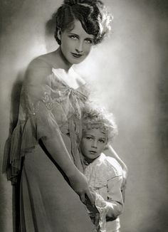 Norma Shearer with her son, Irving jr.