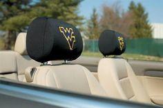 West Virginia Mountaineers Set of 2 Auto Headrest Covers