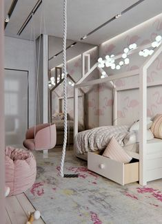 Totally Awesome Kid's Room Ideas You'll Feel like Redecorating. Decorating rooms for kids is always fun to do. There are lots of fantastic kid's room ideas you'll find it hard not to choose, such as the list below. Girl Room, My Room, Girls Bedroom, Bedroom Decor, Decor Room, Dressing Room Design, Stylish Bedroom, Kids Room Design, Room Inspiration