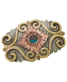 Montana Silversmiths Copper Swirl Buckle