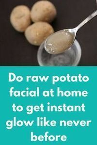 Do raw potato facial at home to get instant glow like never before Today I am going to share how can you do raw potato facial at home. Raw potato is excellent ingredient that will remove all kind of spots and pigmentation from your skin like a magic and w Beauty Care, Beauty Skin, Beauty Hacks, Beauty Tips, Beauty Ideas, Clean Beauty, Diy Beauty, Raw Potato, Facial Tips