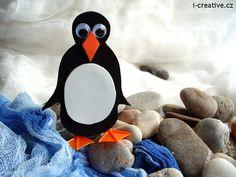 Penguin - winter crafts for kids. Tučňák z moosgummi  - zimní tvoření pro děti. Snowman, Disney Characters, Fictional Characters, Arts And Crafts, Ladybugs, Disney Princess, Creative, Ladybug, Snowmen