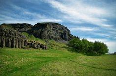 Dverghamrar, southeast Iceland. Columnar basalt formation.