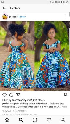 Latest Ankara Dress Styles - Loud In Naija Baby African Clothes, African Dresses For Kids, African Fashion Ankara, African Children, African Girl, Latest African Fashion Dresses, African Dresses For Women, African Print Dresses, Dresses Kids Girl