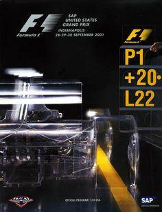 679GP - 2001 SAP UNITED STATES GRAND PRIX Australian Grand Prix, British Grand Prix, Car Posters, Event Posters, Sports Posters, Malaysian Grand Prix, Japanese Grand Prix, Gp F1, Circuit Of The Americas