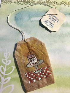 Tea Bag Art, Tea Art, Diy Tea Bags, Paper Art, Paper Crafts, T Bag, Creative Journal, Mark Making, Art Journal Pages