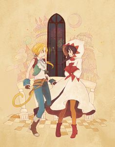 Final Fantasy IX Zidane and Garnet