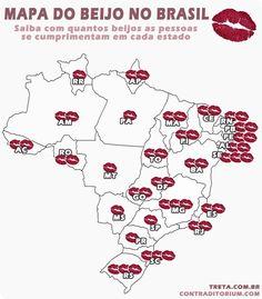 Mapa do Beijo no Brasil