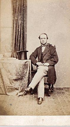 Vintage Photograph, c 1860s Carte de Visite, (CDV) Victorian Gentleman . Bakewell, England