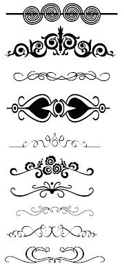 Free borders swirls and flourishes and lots more from KLDezign SVG Silhouette Files, Silhouette Design, Vinyl Crafts, Vinyl Projects, Stencils, Decoupage, Silhouette Portrait, Silhouette Cameo Projects, Vinyl Designs