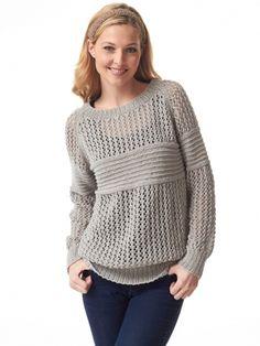 Social Network Pullover | Yarn | Free Knitting Patterns | Crochet Patterns | Yarnspirations