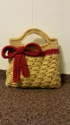 #Crochet Handbag crochet ribbon Purse #Tutorial crochet womens DIY crochet