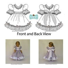 My Angie Girl My Sweet Clara Doll Clothes Pattern 18 inch American Girl Dolls | Pixie Faire