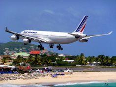 Watch airplanes land right overhead at Sonesta Maho Beach and Resort Casino. @sonestamaho