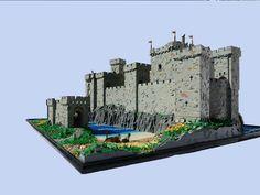 The castle entrance. Lego Burg, Minecraft Medieval, Lego Army, Amazing Lego Creations, Lego Castle, Lego House, Minecraft Stuff, Lego Stuff, Cool Lego
