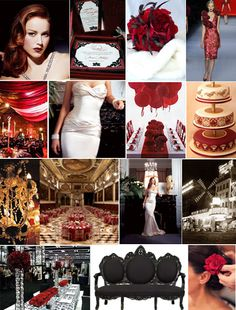 Bridal Bubbly: Moulin Rouge Inspiration Board
