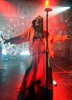 "Ready to ""Bring The Noize."" M.I.A. readies for a performance worthy of a bad girl on Nov. 5 in Brooklyn, N.Y."