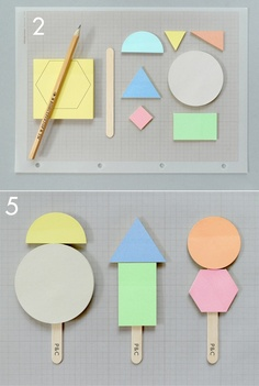 A Summer Project: Memo-Pops.    (sticky notes, lolly stick, card, scalpel, glue.)