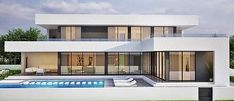 Houses for sale Spain - modern villa costa blanca and Costa del Sol - House Projects - - Houses For Sale Spain, Best Modern House Design, Luxury Homes Dream Houses, Facade House, House Layouts, White Houses, Home Projects, Architecture Design, House Plans