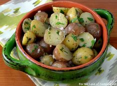 Warm Baby Potato Salad with Herb Shallot Vinaigrette