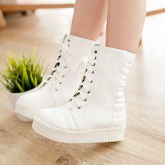wholesale Ladies comfortable boots lace up casual shoes Z-TZ-FDC-3