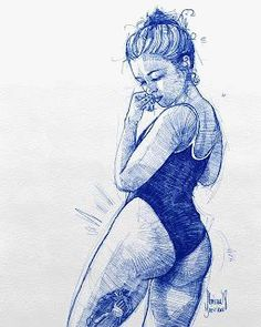 Nice Pen Art by Florian Beierlein Girl Drawing Sketches, Pencil Art Drawings, Anatomy Art, Pen Art, Art Sketchbook, Erotic Art, Figure Drawing, Female Art, Art Inspo