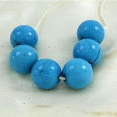 Other Loose Beads 179275: Jewelry Findings 6Pcs Round Shape Turquoise Gemstone Beads 14.00Mm BUY IT NOW ONLY: $52.48