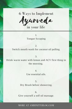6 Easy Ayurveda Self-Care Routines to Implement in Your Life