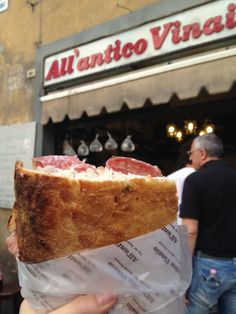 Best Sandwich place ever!!!! Still dream about it. All'Antico Vinaio in Firenze, Toscana