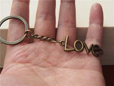 Love letters  keychain, bronze Love letters keychain , friendship keychain keychain,mens keychain, charm  keychain, boyfriend  key chain Hand Stamped, Bronze, Unique Jewelry, Bracelets, Handmade Gifts, Stuff To Buy, Etsy, Vintage, Kid Craft Gifts