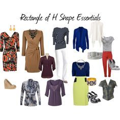 Rectangle of H Shape Essentials by aileenlane on Polyvore featuring mode, Gucci, Wallis, Kaliko, Fat Face, Ted Baker, Witchery, Versace, MANGO and Proenza Schouler