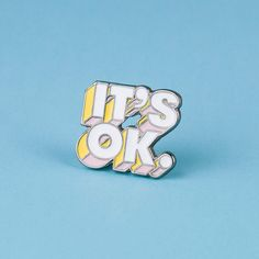 IT'S OK. Enamel Pin by GhostGoodsCo on Etsy