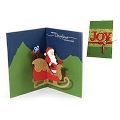 Joy Santa & Sleigh Pop-Up Card